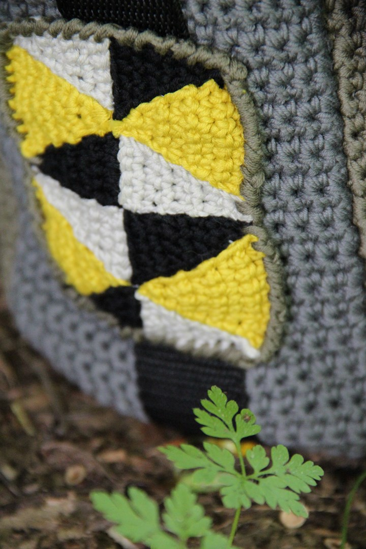 sac crochete geomtrique Serial