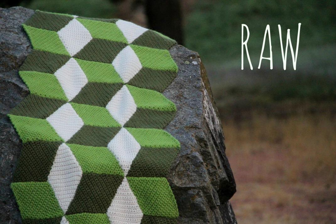 couverture crochet losange 3