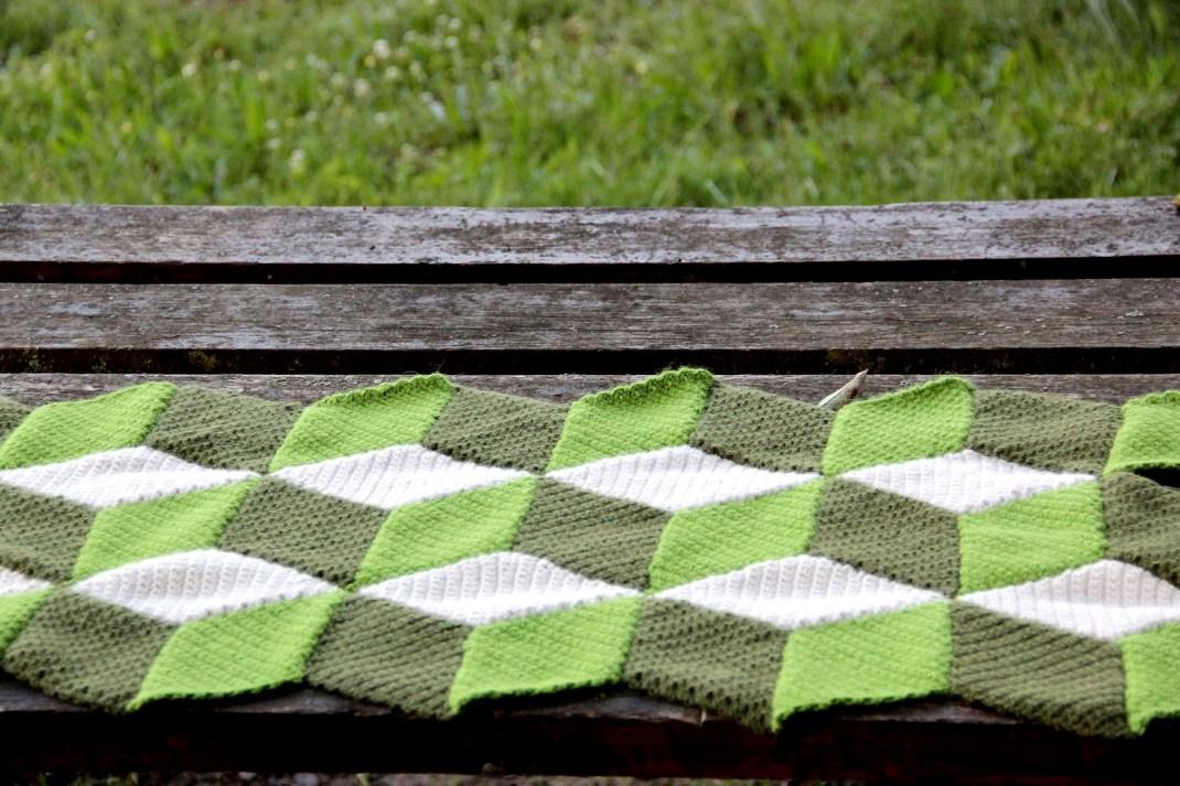 couverture crochet losanges 2