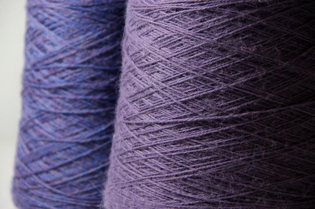 Chinée bleu lavande & Alpaga mauve 63