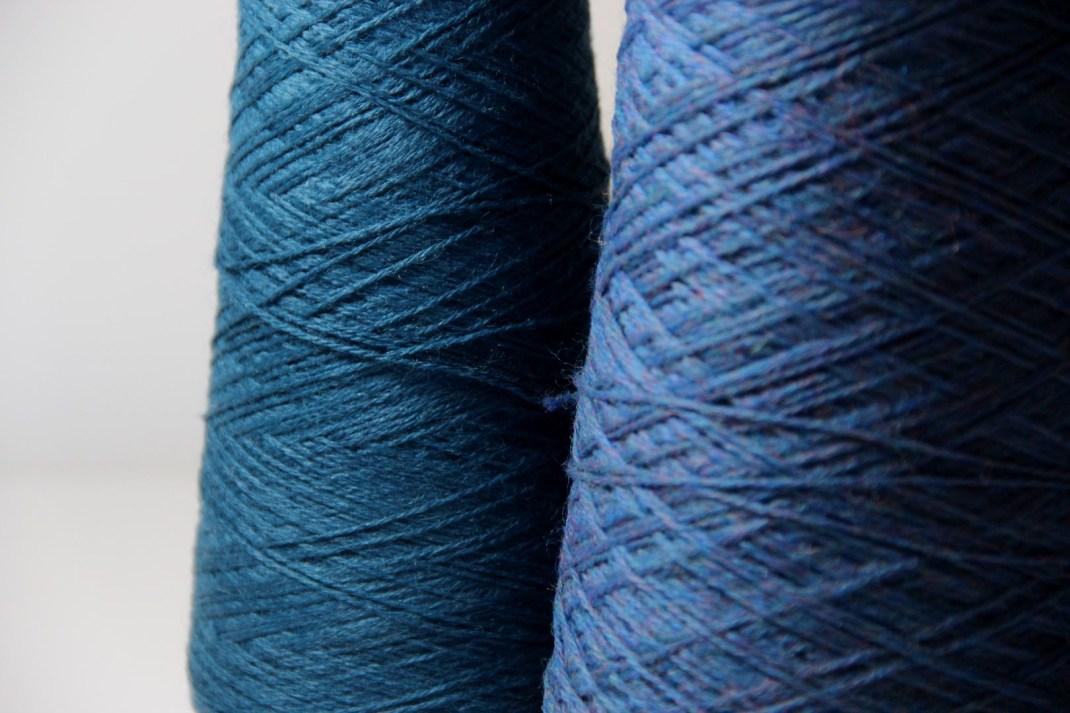 Chinée bleu cobalt & Alpaga bleu canard