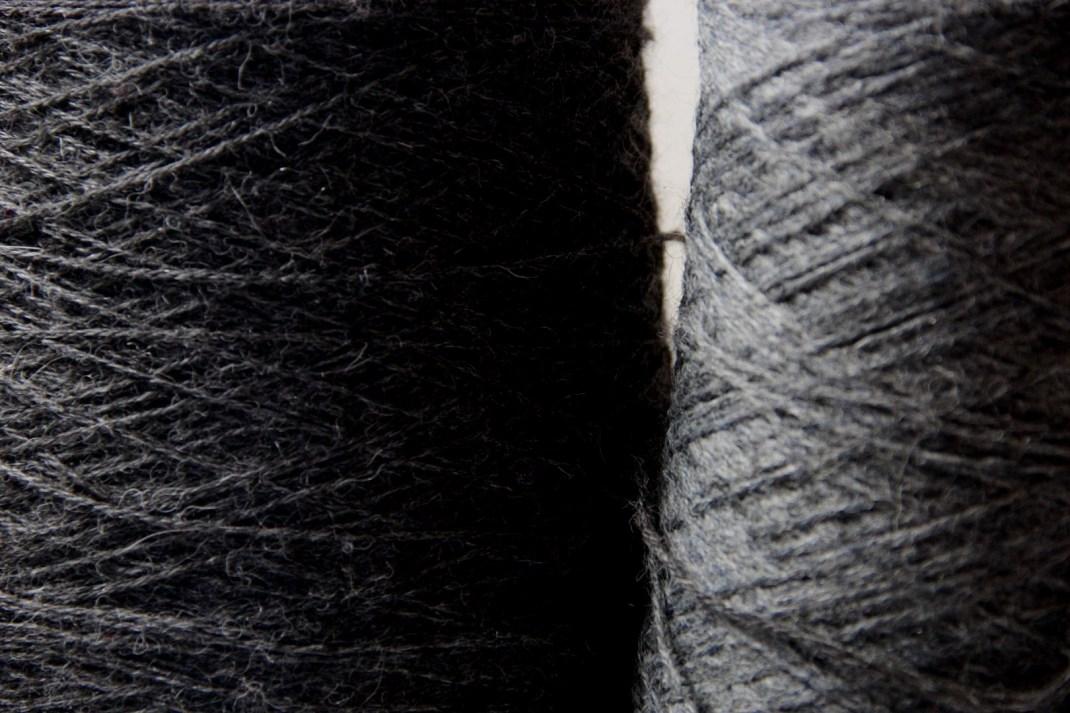 Chinée gris anthracite & Alpaga gris anthracite