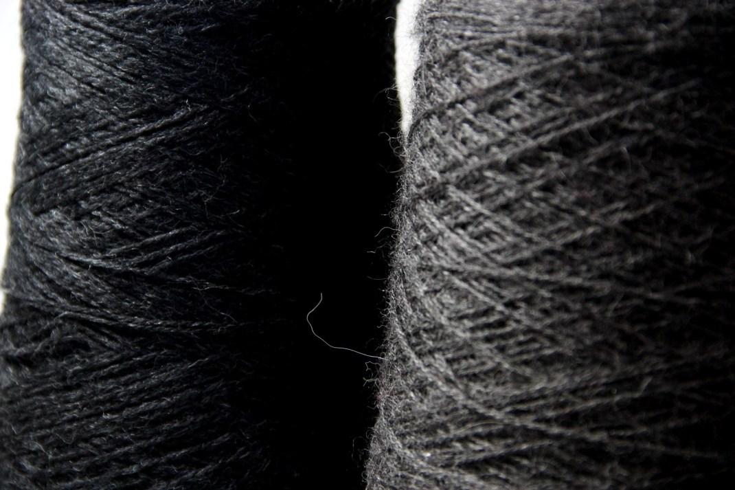 Chinée noir & Alpaga gris anthracite