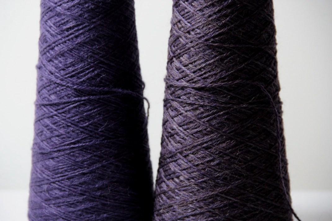 chinée violet &  alpaga violette