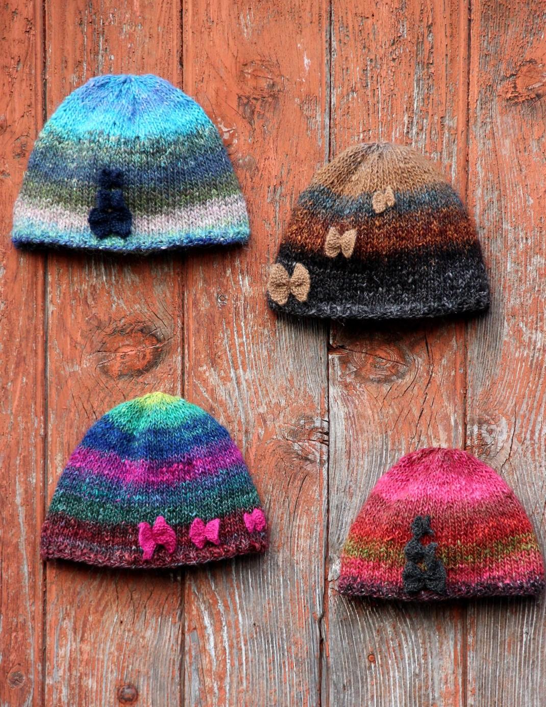 4 kits Le bonnet Papillons