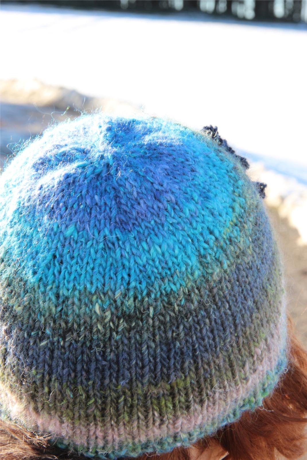 Bonnet silk garden bleu 2