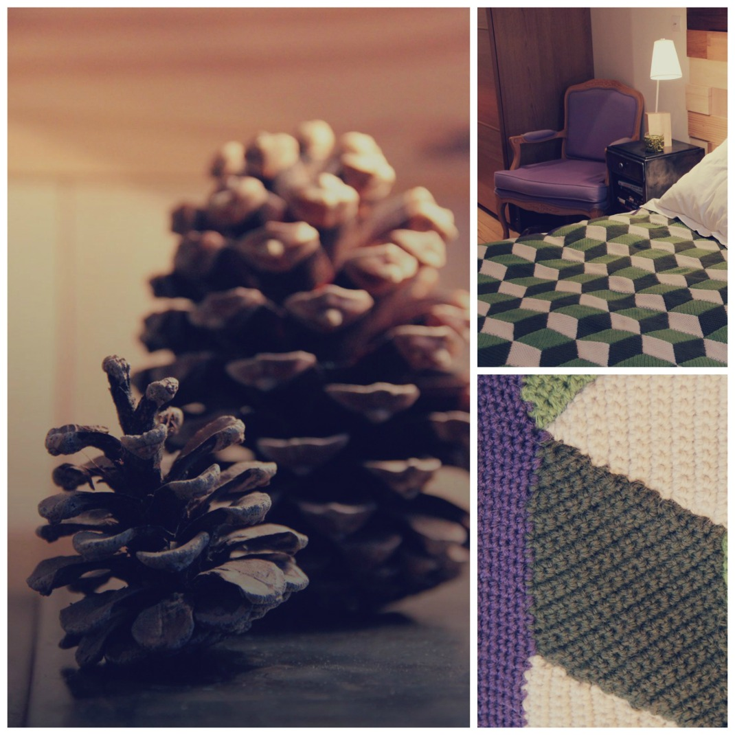 Vasarely blanket Purple Laines 1