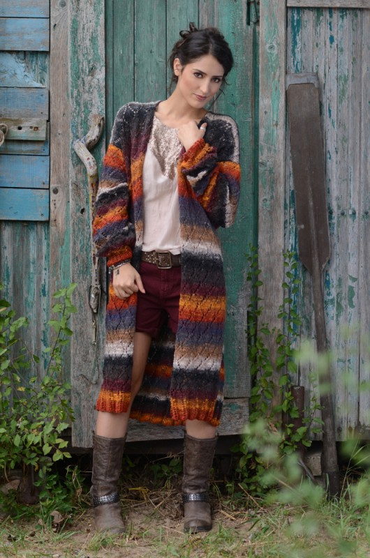Kazuko manteau silk garden 4 Ply
