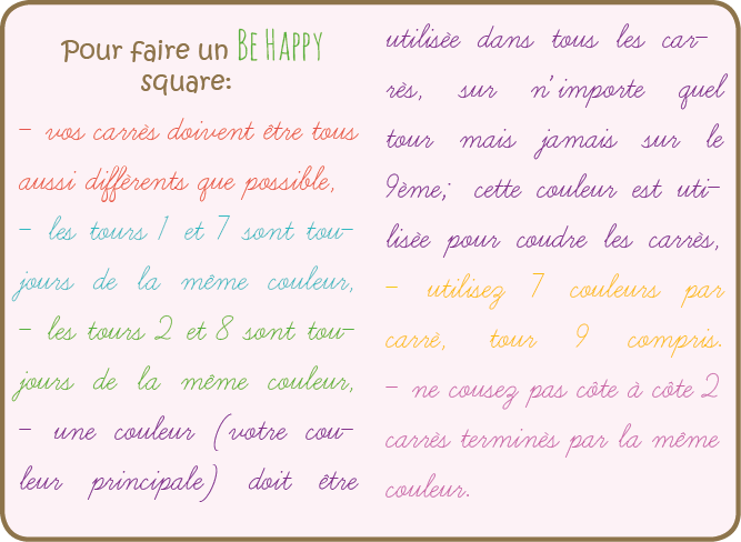 Pour faire un be happy square