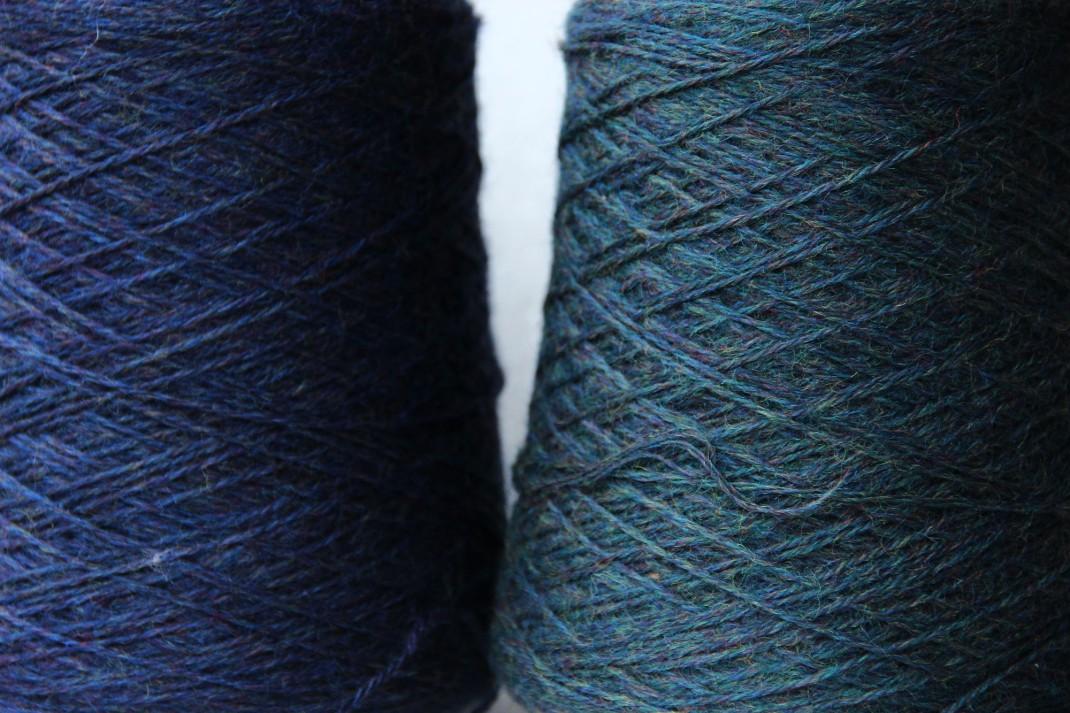 chinée indigo et bleu nuit