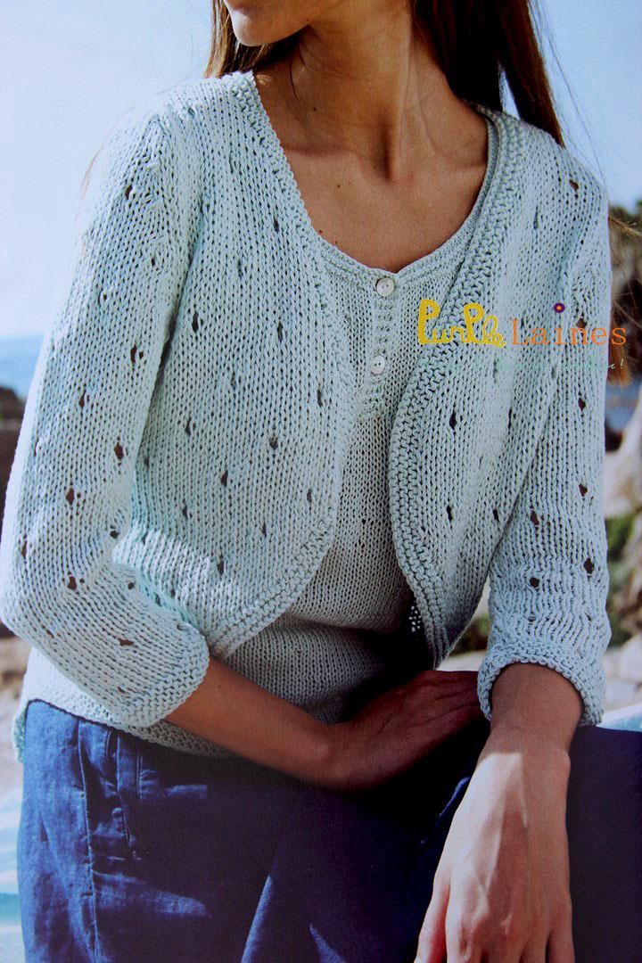 Gilet Natura DMC femme 2015 PurPle Laines