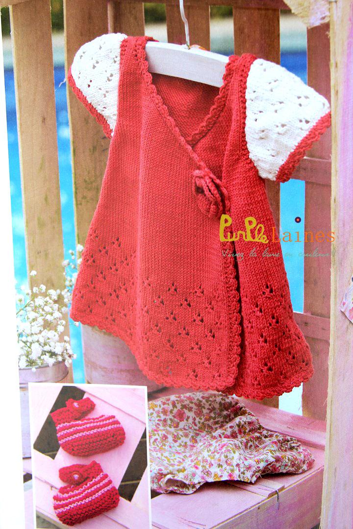 robe bébé croisée Natura DMC bébé 2015 PurPle Laines