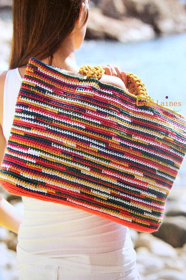sac au crochet Natura DMC femme 2015 PurPle Laines