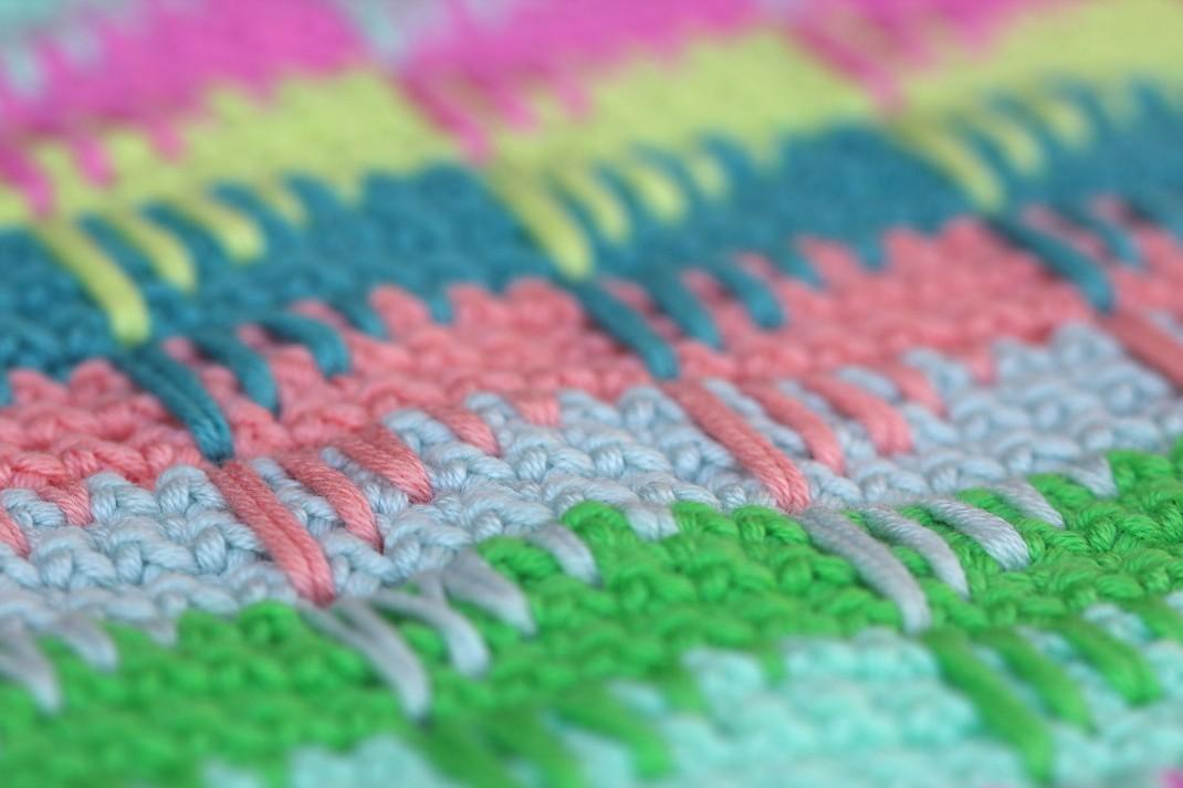 Coussin Zigzag 2 PurPle Laines