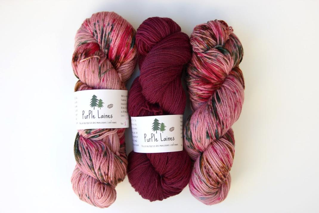 Kit Purple Laines To Gather Shawl (2)